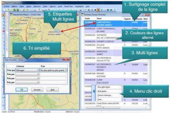 Logiciel de cartographie mapinfo sous les projecteurs