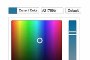 contrôleur de couleur pour WordPress